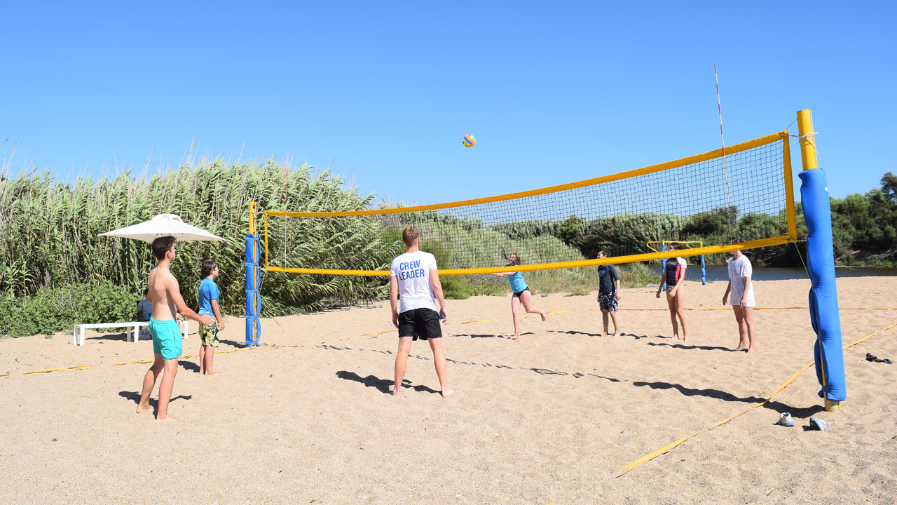 Beach volleyball at Costa Navarino