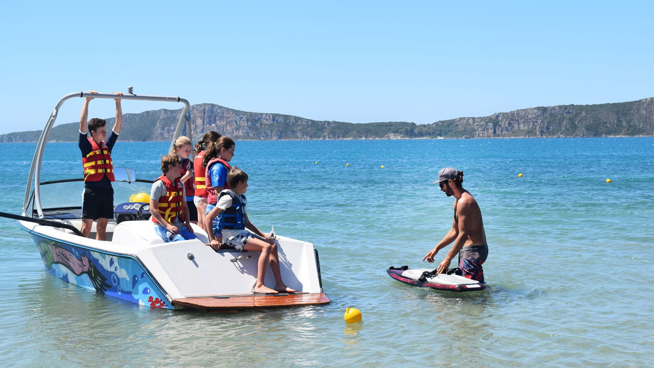 Crew watersports at Costa Navarino