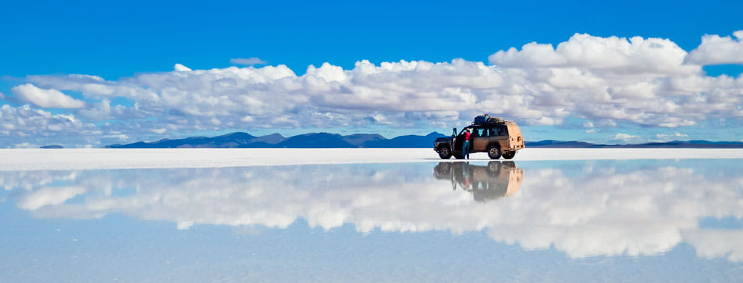 Uyuni Salt Flat in Bolivia, South America