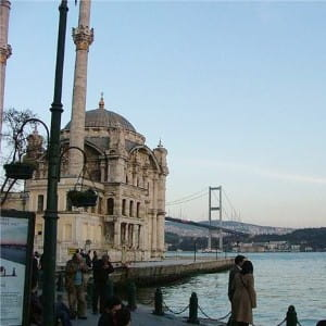 The Bosphorus is a beautiful river with splits Europe and Asia